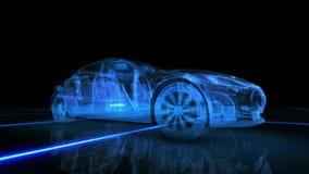 Абстрактная анимация автомобиля 3D Стоковые Изображения RF