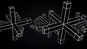 Абстрактная анимация движения геометрических форм на черной предпосылке Геометрически сложные формы бесплатная иллюстрация