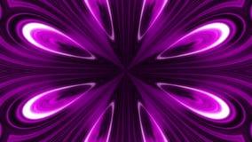 Абстрактная анимация пурпурного и черного калейдоскопа цветка Абстрактная пестротканая предпосылка графиков движения иллюстрация штока