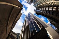 Абстрактная архитектура города, Лондон стоковое изображение rf