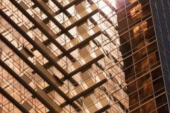 Абстрактная архитектура, стена стекла золота Стоковое Изображение