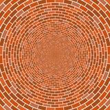 Абстрактная архитектурноакустическая предпосылка мозаики вектора обмана зрения круга кирпичной стены Стоковое Изображение RF