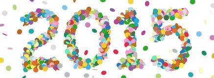 Абстрактная дата года Confetti - 2015 Стоковое Изображение