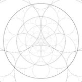 Абстрактная алхимическая тема Предпосылка искусства фрактали геометрия священнейшая Загадочная картина релаксации Художественное  иллюстрация штока