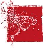 Абстрактная бабочка от пузырей бобра иллюстрация штока