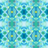 Абстрактная безшовная акриловая орнаментальная картина Безшовная текстура в стиле импрессионизма Стоковая Фотография