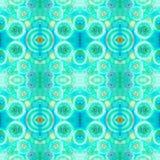Абстрактная безшовная акриловая орнаментальная картина Безшовная текстура в стиле импрессионизма Стоковое Фото