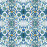 Абстрактная безшовная акриловая орнаментальная картина Безшовная текстура в стиле импрессионизма Стоковое фото RF