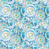 Абстрактная безшовная акриловая орнаментальная картина Безшовная текстура в стиле импрессионизма для сети, печати, обручей, ткани Стоковые Изображения