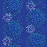 Абстрактная безшовная геометрическая картина с флористической предпосылкой Стоковые Изображения