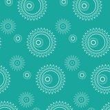 Абстрактная безшовная геометрическая картина с флористической предпосылкой Стоковое фото RF