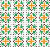 Абстрактная безшовная геометрическая картина с флористической предпосылкой Стоковое Изображение RF