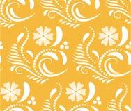 Абстрактная безшовная геометрическая картина с флористической предпосылкой Стоковое Фото