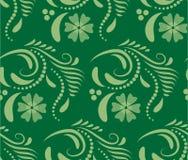 Абстрактная безшовная геометрическая картина с флористической предпосылкой Стоковая Фотография