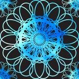 Абстрактная безшовная геометрическая орнаментальная картина краски акварели Иллюстрация EPS10 вектора Стоковая Фотография RF