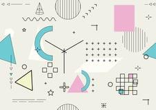 Абстрактная безшовная геометрическая предпосылка - вектор Стоковые Фото
