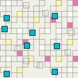 Абстрактная безшовная геометрическая предпосылка - вектор Стоковое Изображение RF