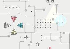 Абстрактная безшовная геометрическая предпосылка - вектор Стоковая Фотография RF