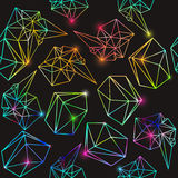Абстрактная безшовная геометрическая предпосылка с светами Стоковое фото RF