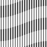 Абстрактная безшовная геометрическая черно-белая картина, волны Стоковое Изображение