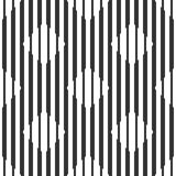 Абстрактная безшовная геометрическая черно-белая картина, косоугольники Стоковые Изображения RF