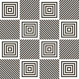 Абстрактная безшовная геометрическая черно-белая картина иллюстрация вектора