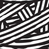 Абстрактная безшовная геометрическая monochrome картина, волнистый пересекать выравнивается Стоковое Изображение RF
