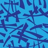 Абстрактная безшовная голубая картина с завитый Стоковая Фотография RF