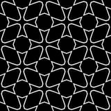 Абстрактная безшовная декоративная геометрическая светлая черная & белая предпосылка картины стоковое изображение
