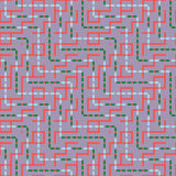 Абстрактная безшовная картина вектора пересекать квадратные орнаменты Стоковая Фотография RF