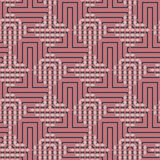 Абстрактная безшовная картина вектора пересекать квадратные орнаменты Стоковое Изображение RF