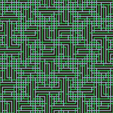 Абстрактная безшовная картина вектора пересекать квадратный орнамент Стоковое Фото