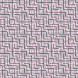 Абстрактная безшовная картина вектора пересекать квадратный орнамент Стоковое фото RF