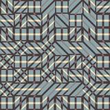 Абстрактная безшовная картина вектора пересекать раскосные орнаменты Стоковые Изображения RF