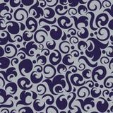 Абстрактная безшовная картина в серых и фиолетовых цветах Стоковое Изображение RF