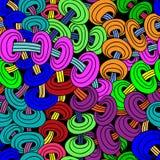 Абстрактная безшовная картина в стиле zentangle Стоковые Фото