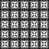 Абстрактная безшовная картина в черно-белом Стоковое Изображение RF