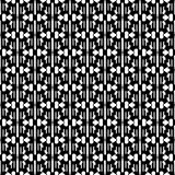 Абстрактная безшовная картина в черно-белом Стоковые Фотографии RF