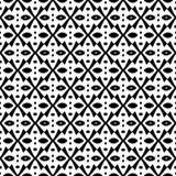 Абстрактная безшовная картина в черно-белом Стоковые Фото