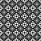 Абстрактная безшовная картина в черно-белом Стоковая Фотография