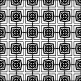 Абстрактная безшовная картина в черно-белом Стоковое Фото