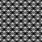 Абстрактная безшовная картина в черно-белом Стоковое фото RF