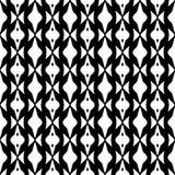 Абстрактная безшовная картина в черно-белом Стоковые Изображения