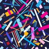 Абстрактная безшовная картина геометрических нашивок Стоковые Изображения