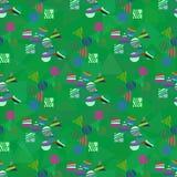Абстрактная безшовная картина для девушек, мальчиков, одежд Стоковое Изображение RF