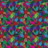 Абстрактная безшовная картина листьев Стоковые Фото