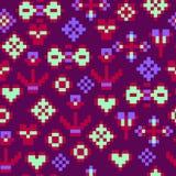 Абстрактная, безшовная картина, мозаика, влияние пиксела Стоковое Фото