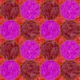Абстрактная безшовная картина мостоваой восьмиугольников Стоковая Фотография