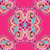 Абстрактная безшовная картина на розовой предпосылке также вектор иллюстрации притяжки corel воздушные шары предпосылки зайчик мо Стоковые Фотографии RF