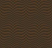Абстрактная безшовная картина на темной хаки предпосылке Имеет форму волны Стоковые Фотографии RF